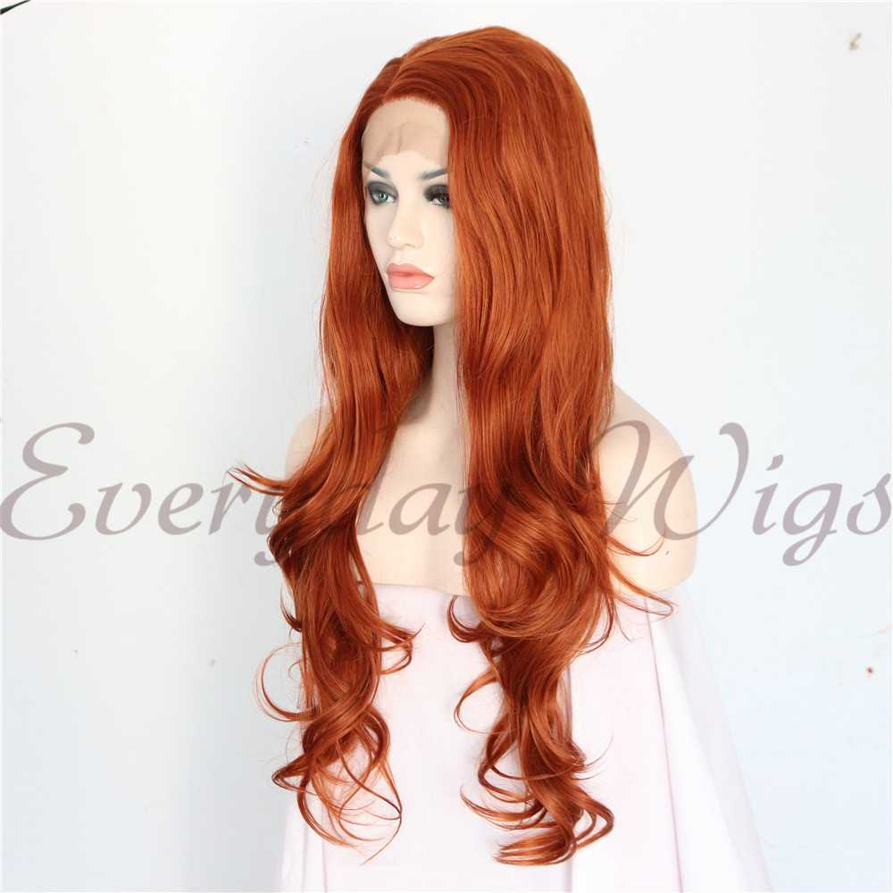"26"" Light Green Long Wavy Synthetic Lace Front Wig-edw1101"