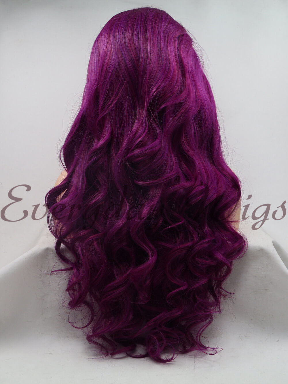 "26"" Ombre Purple Long Synthetic Lace Front Wig-edw1104"