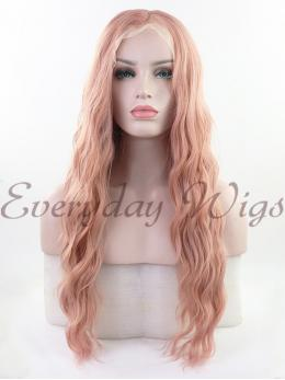 "24"" Mint Green Ombre Straight Synthetic Lace Front Wig-edw1107"