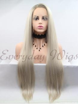 "14"" Short Water Wave Brown Synthetic Lace Front Wig-edw1108"
