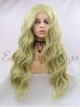 "14"" Green Curly synthetic Lace Front Wigs-edw1110"