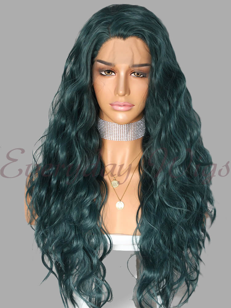 "24"" ombre wavy Synthetic Lace Front Wig - edw1112"