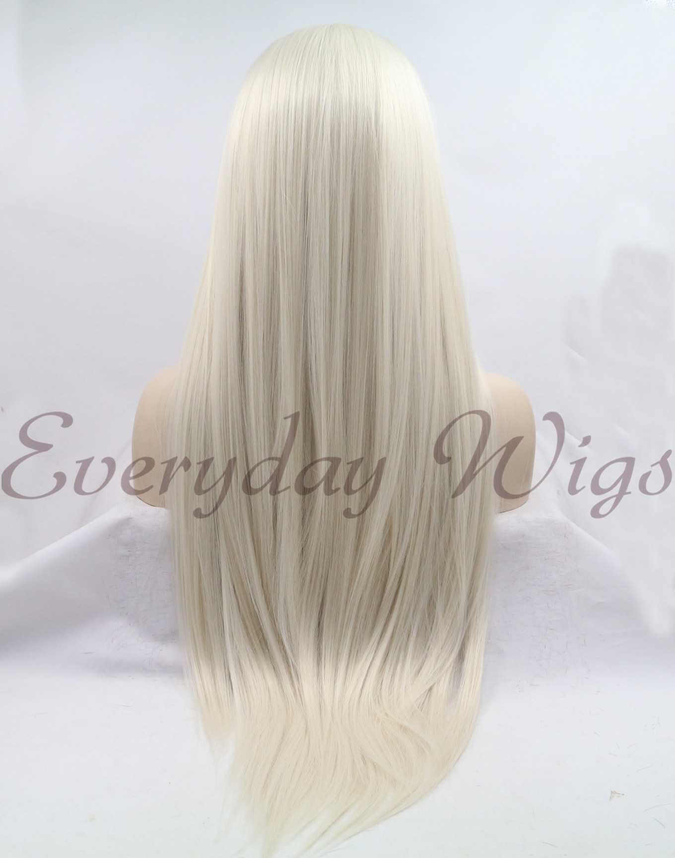 "26 "" Long Blonde Straight Synthetic Lace Front Wig- edw1113"