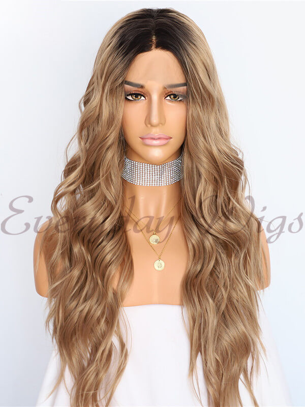 "12"" Blonde Ombre Synthetic Lace Front Wig - edw1115"