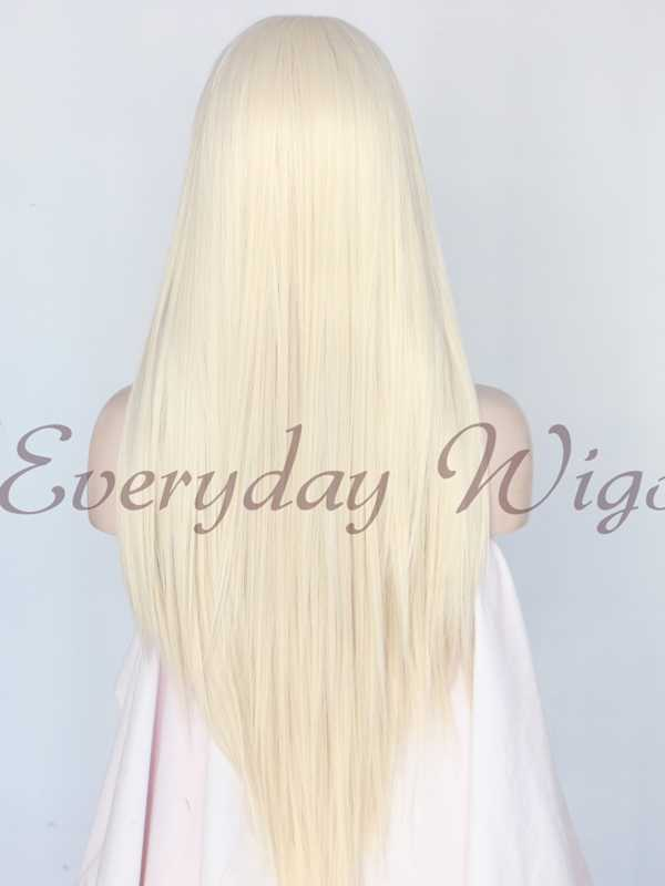"24"" Light Blonde Synthetic Lace Front Wig - edw1125"