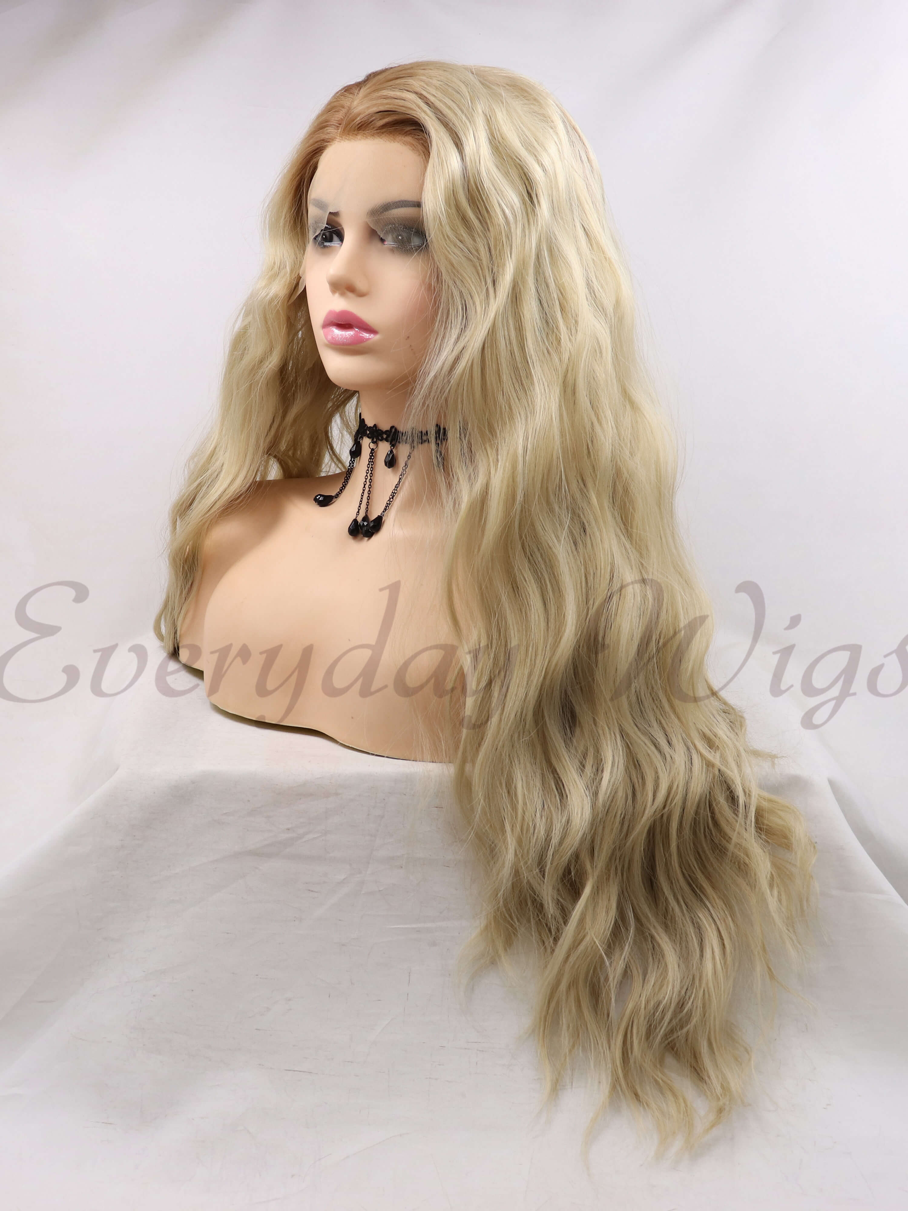 "24"" Blonde Ombre Synthetic Lace Front Wig - edw1127"