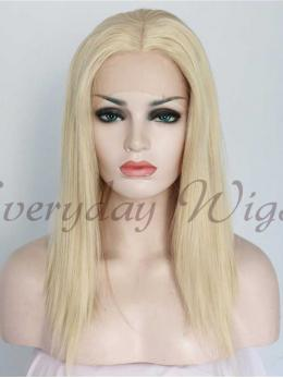"14"" Light Blonde short Synthetic Lace Front Wigs - edw1128"