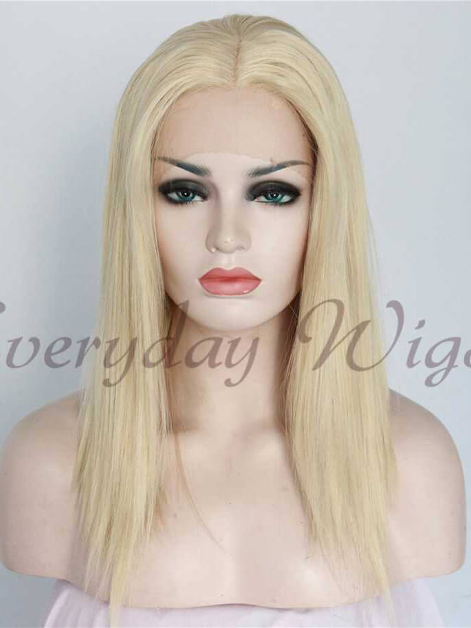 "14"" Light Blonde Short Synthetic Lace Front Wigs - edw1128 - Click Image to Close"