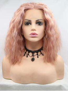 "14"" Ombre pink Short Synthetic Lace Front Wig- edw1133"