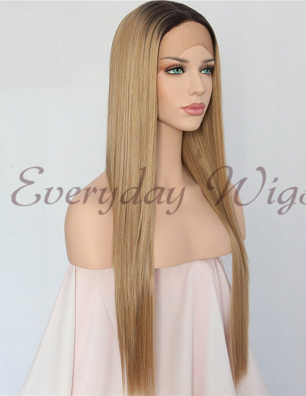 "14"" Black Synthetic Braided Lace Front Wig-edw1135"
