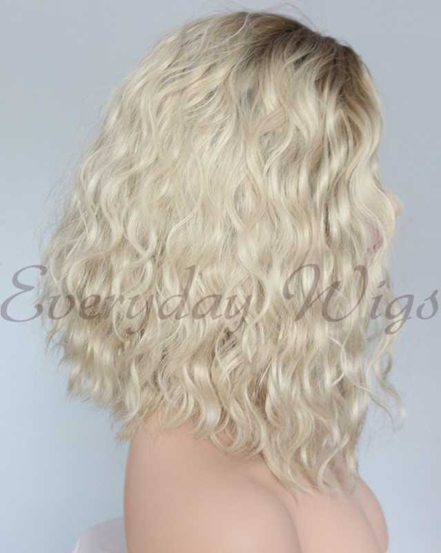 "14"" Ombre Blonde Synthetic Lace Front Wig-edw1136"