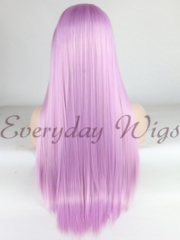 "26"" Long Lavender Synthetic Braided Lace Front Wig-edw1138"