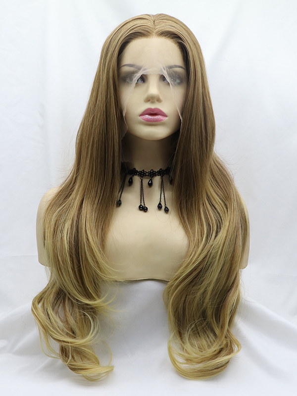 "26"" ombre Blue Synthetic Braided Lace Front Wig-edw1140"