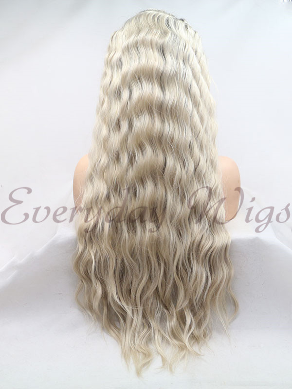"26"" Ombre Blonde Slight Wavy Synthetic Lace Front Wig-edw1143"