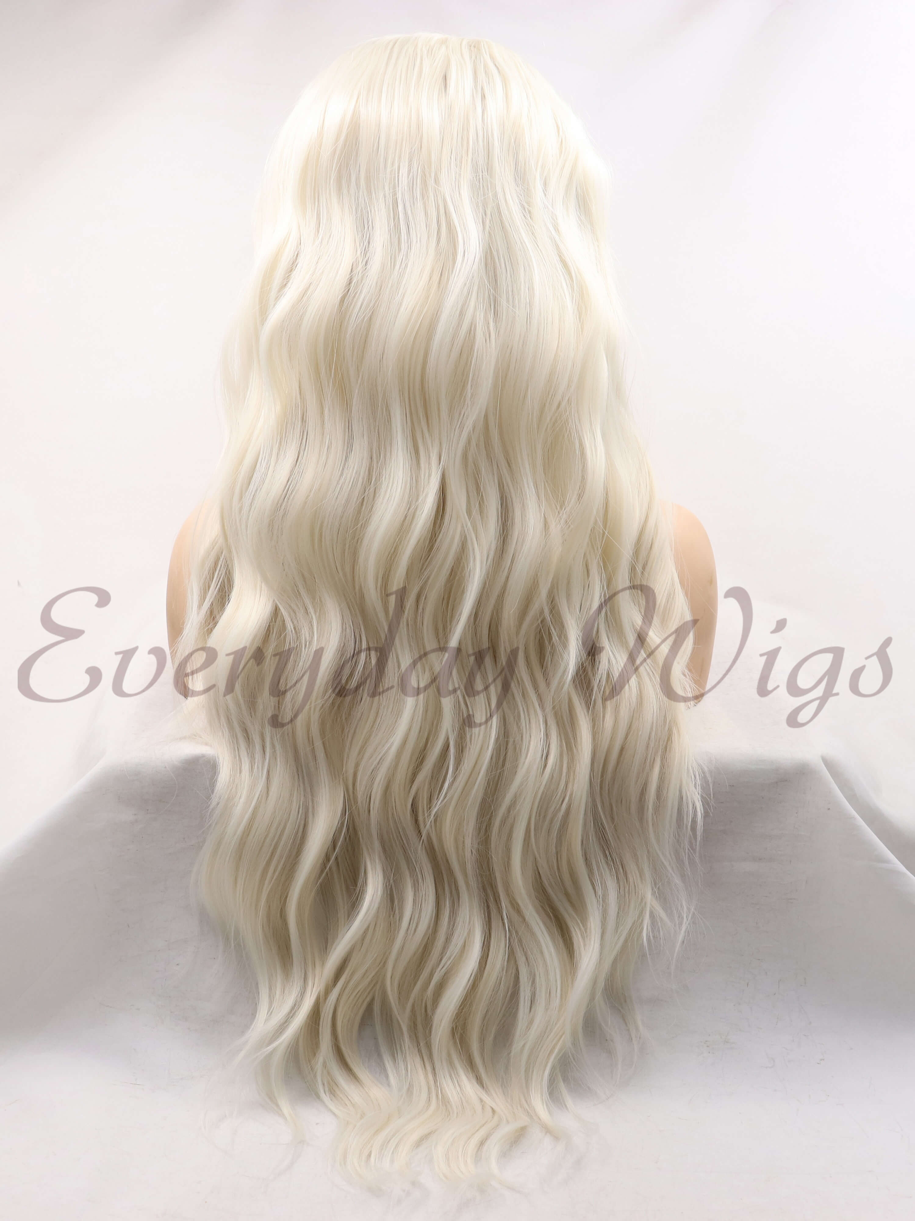 "24"" ombre Blonde Synthetic Lace Front Wig - edw1156"
