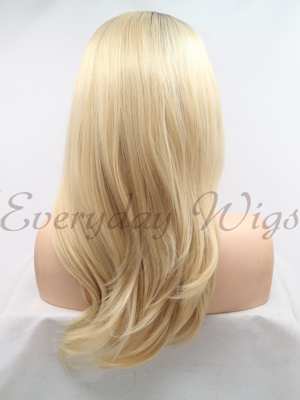 "18"" Ombre Blonde Mid Length Synthetic Lace Front Wig - edw1163"