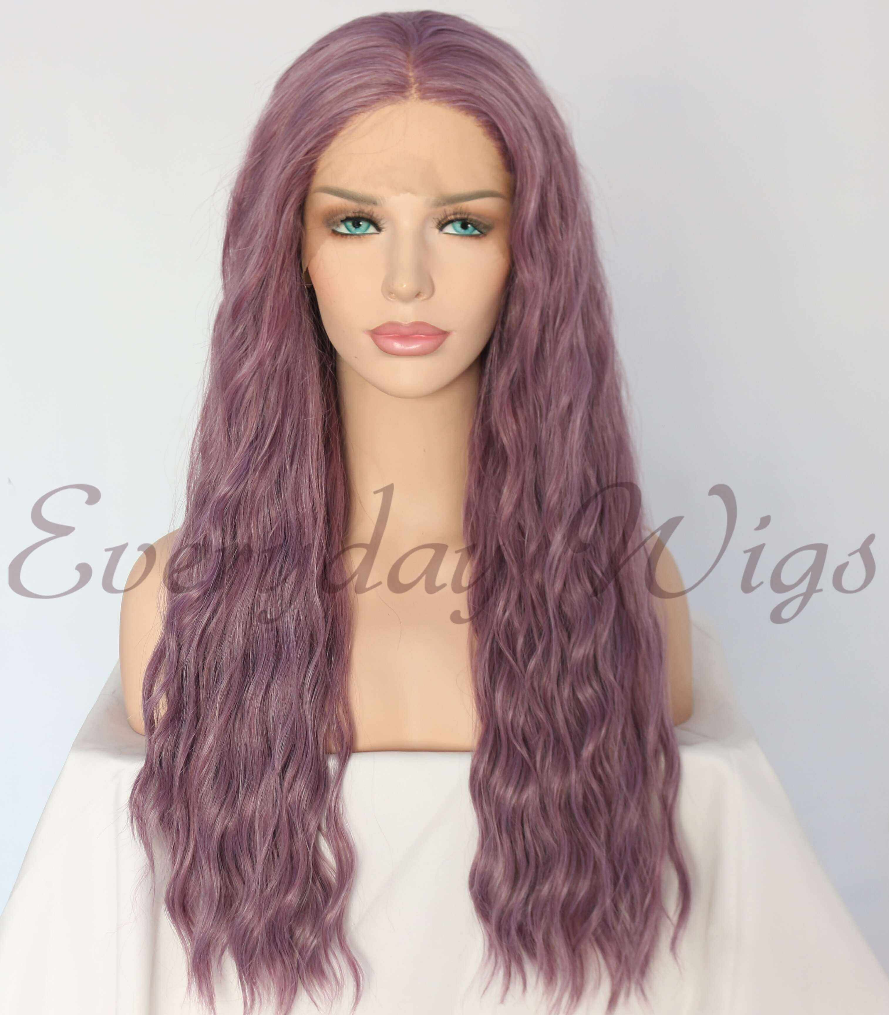 "24"" Purple Slight Wavy Synthetic Wigs -edw1168"