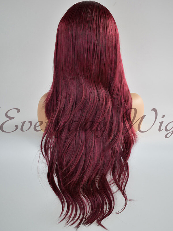 "24"" Ombre colorful Synthetic Lace Front Wig- edw1176"