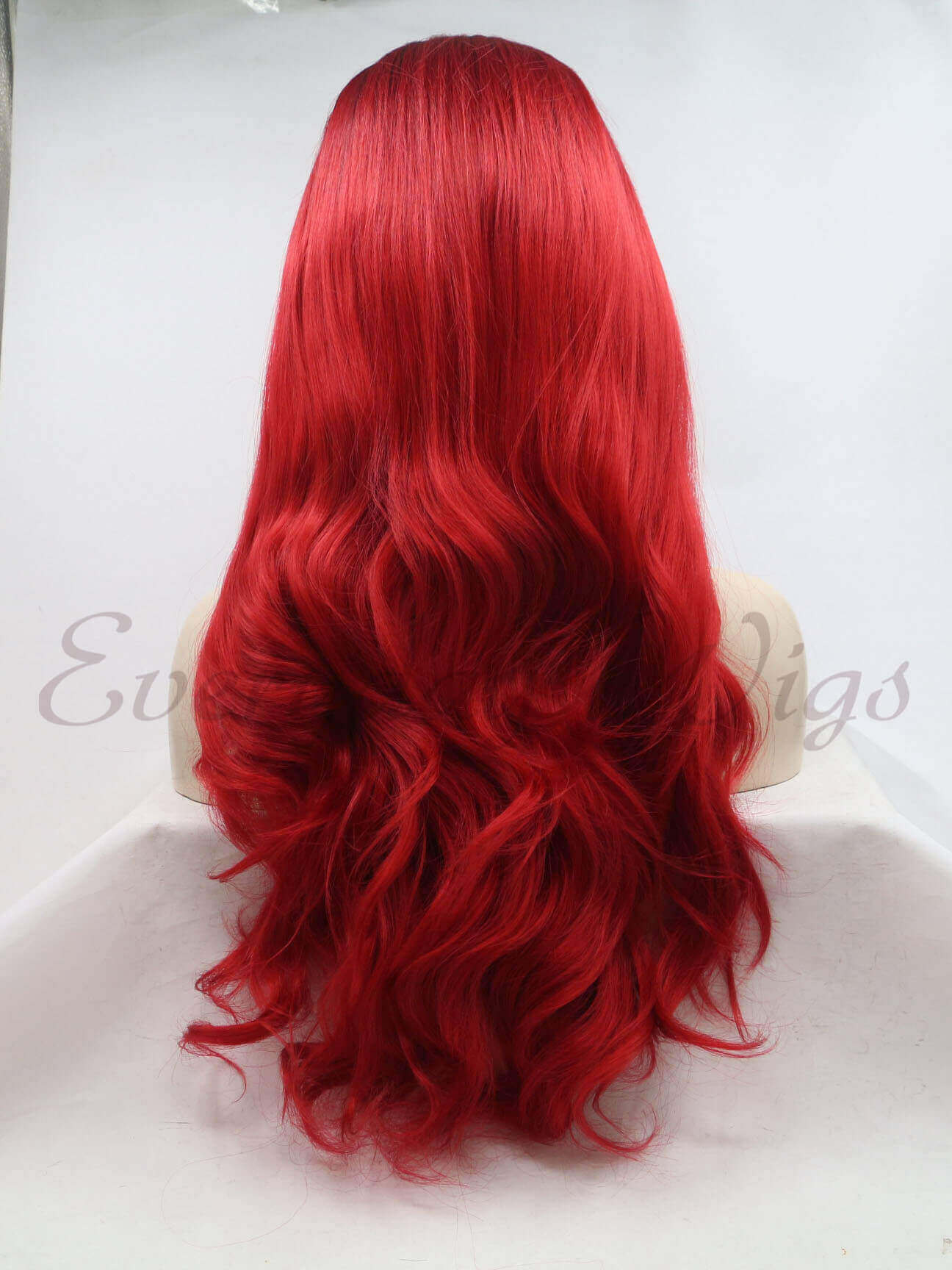 "24"" Ombre Red Wavy Synthetic Lace Front Wigs-edw1192"