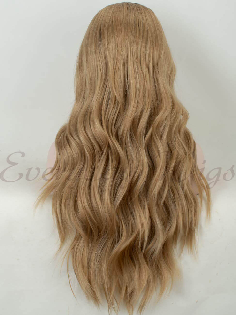 "24"" Ombre Brown to Blonde Synthetic Lace Front Wig- edw1198"