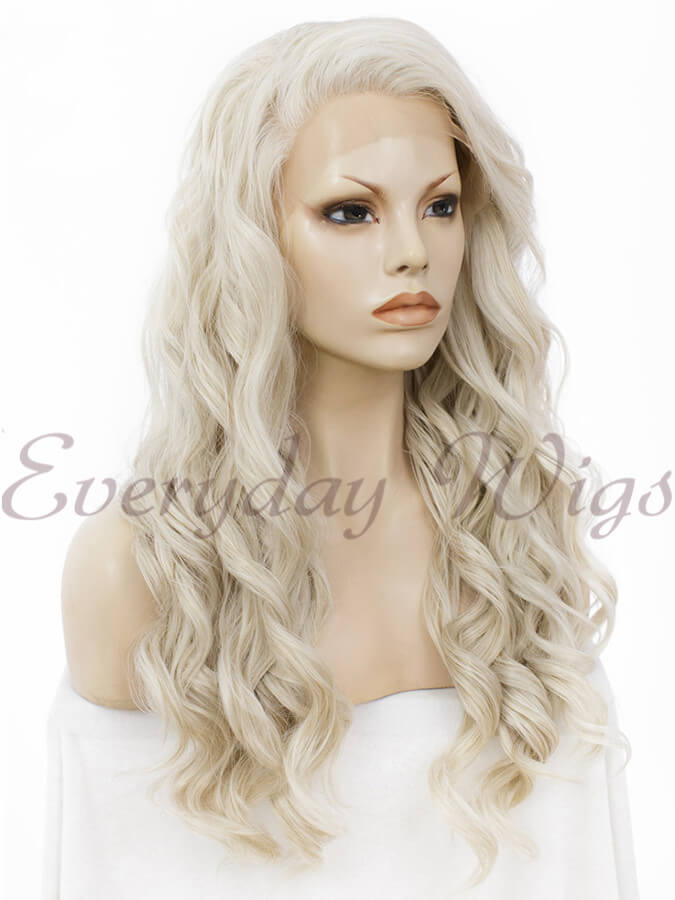 "24"" Long Wavy Synthetic Lace Front Wig - edw144"