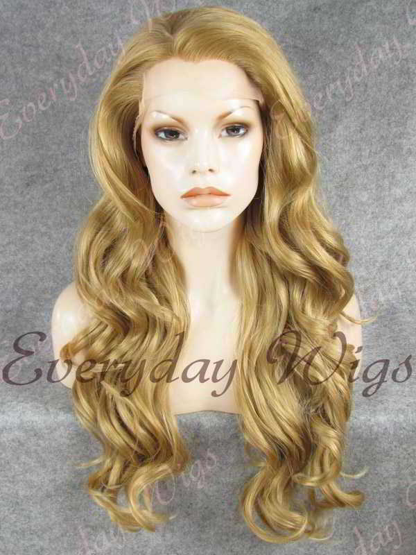 "24"" Long Wavy Synthetic Lace Front Wig - edw159"