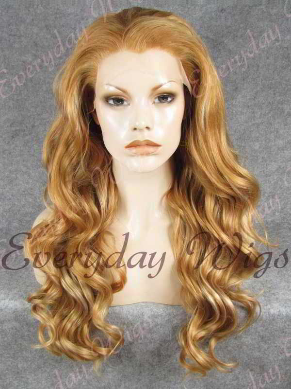 "24"" Long Wavy Synthetic Lace Front Wig - edw160"
