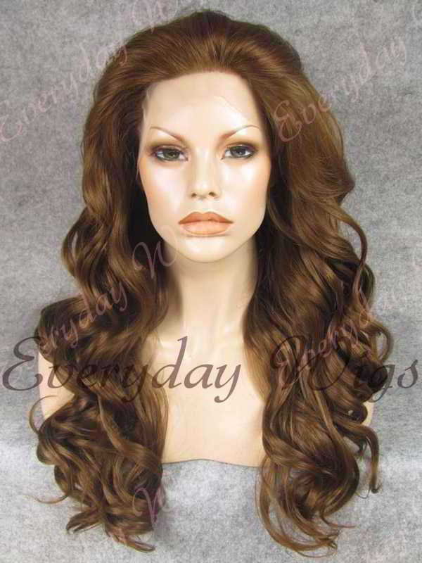 "24"" Long Wavy Synthetic Lace Front Wig - edw167"