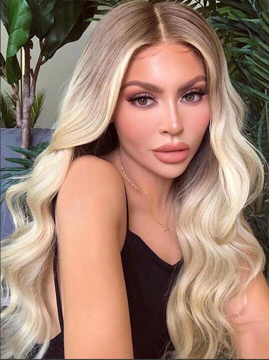 Darkest Brown Ombre Ash Blonde Lace Front Wig - edw2002