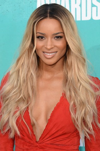 Long Ombre Blonde Human Hair Front Lace Wig - edw2009 - Click Image to Close