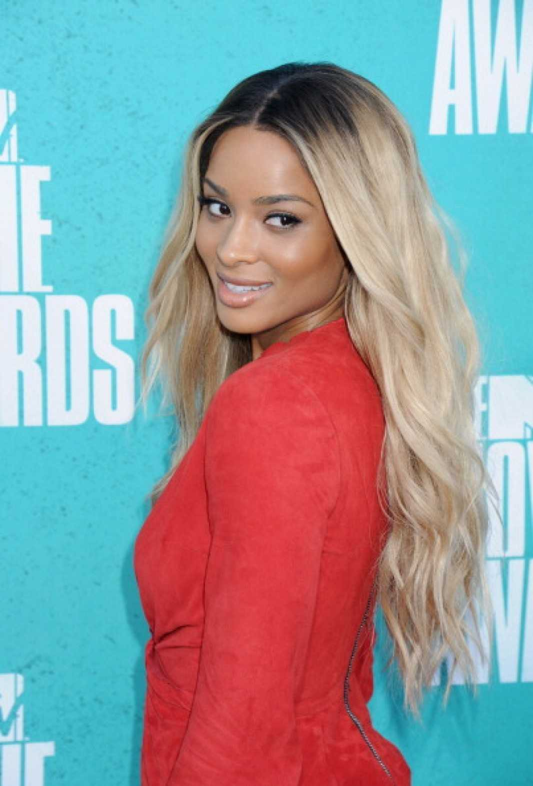 Long Ombre Blonde Human Hair Front Lace Wig - edw2009