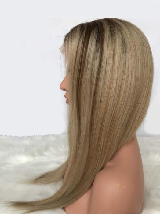 Blonde Highlight Human Hair Lace front Wigs-edw2017