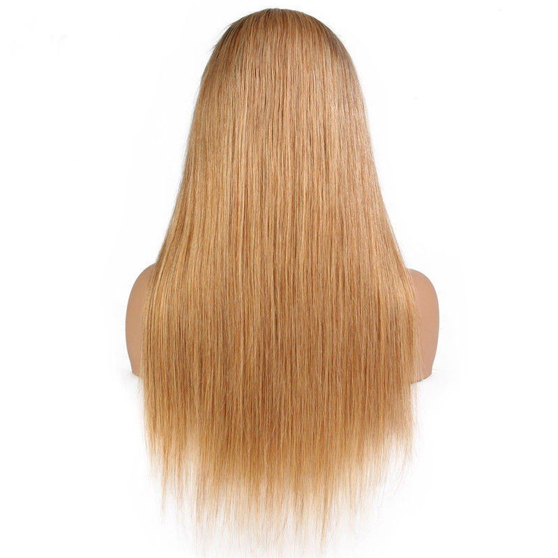 Ombre blonde straight human hair wigs- edw2022
