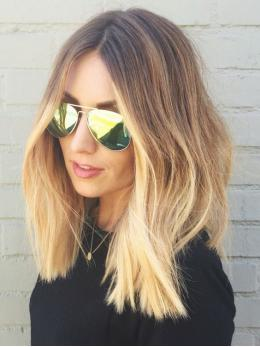 Blonde ombre human hair wig- edw2025