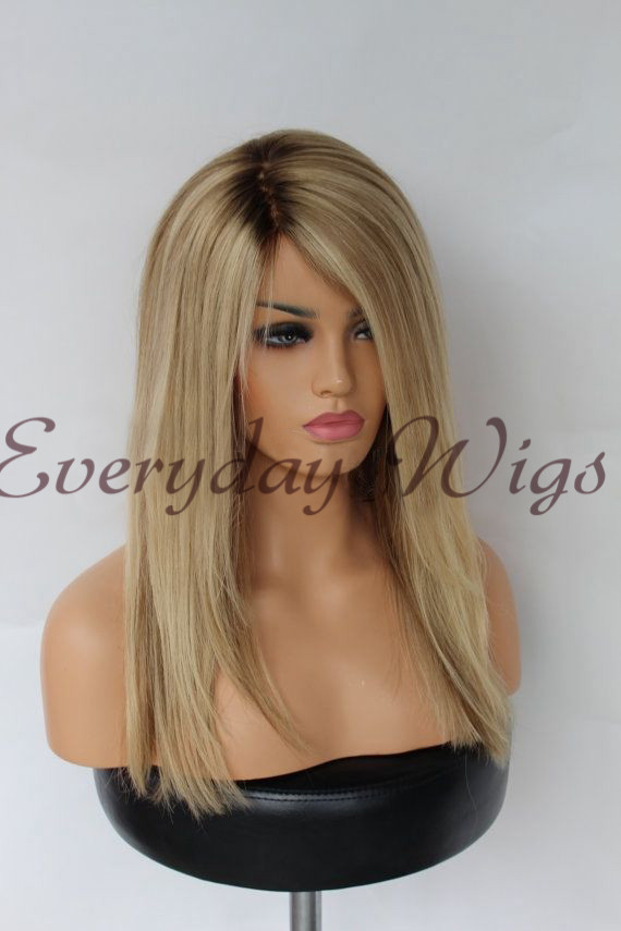 Ombre human hair lace front wigs- edw2031