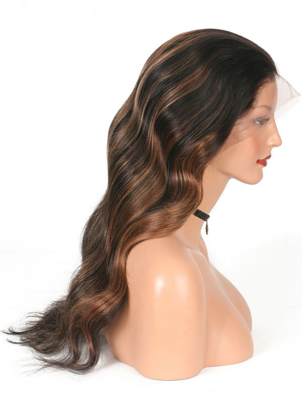 Ombre brown Caramel human hair wigs- edw2033
