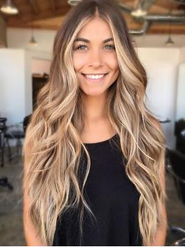 Ombre Blonde Body Wavy Human Hair Wigs- edw2040