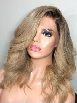 Blonde Ombre human hair lace front wigs- edw2047
