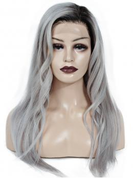 Ombre Grey human hair wig - edw2054