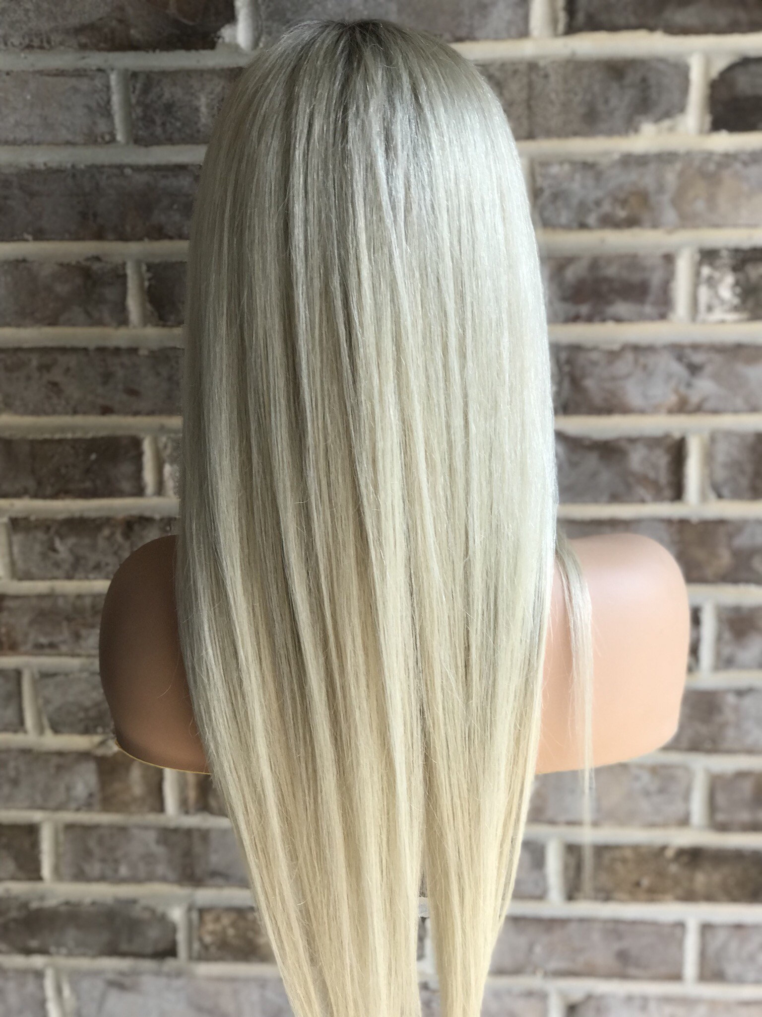 Ombre Blonde Human Lace Wigs- edw2056