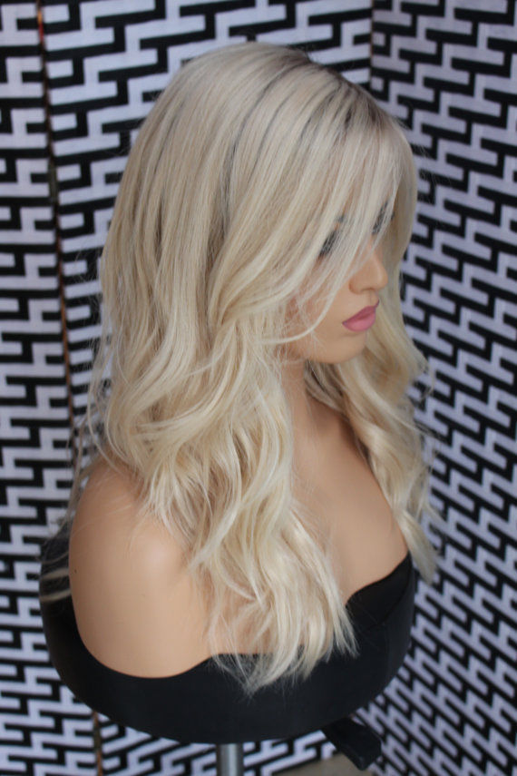 Ombre Blonde wavy huamn hair wigs- edw2057