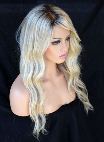 Blonde Ombre Curls BOB Hair Lace Front Wigs - edw2066