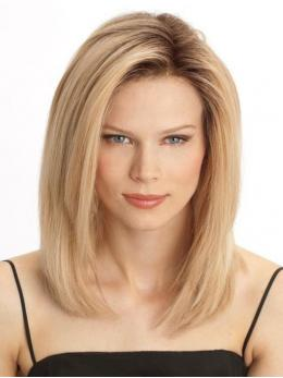 Ombre Blonde Shoulder Length Human Lace Front Wig - edw2079