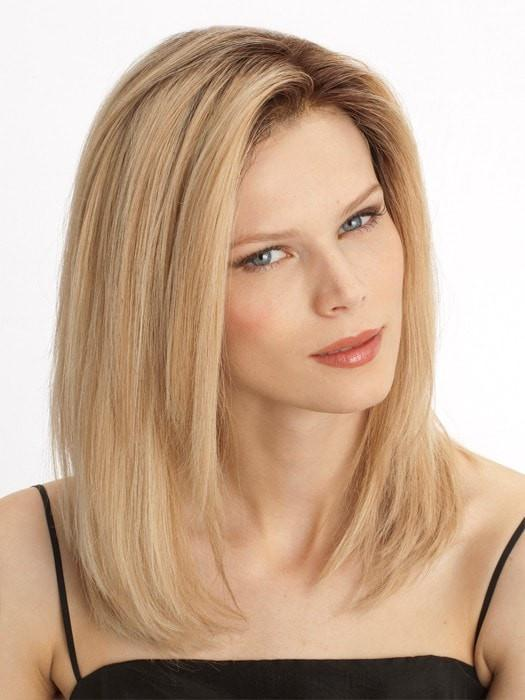 Ombre Blonde Short human Lace Front Wig - edw2079