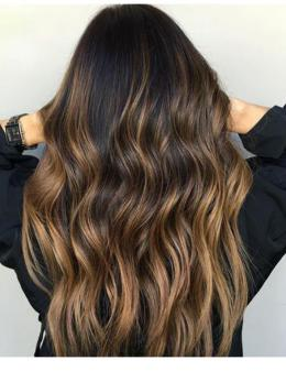 Ombre Highlights Human Hair hair wig- edw2091