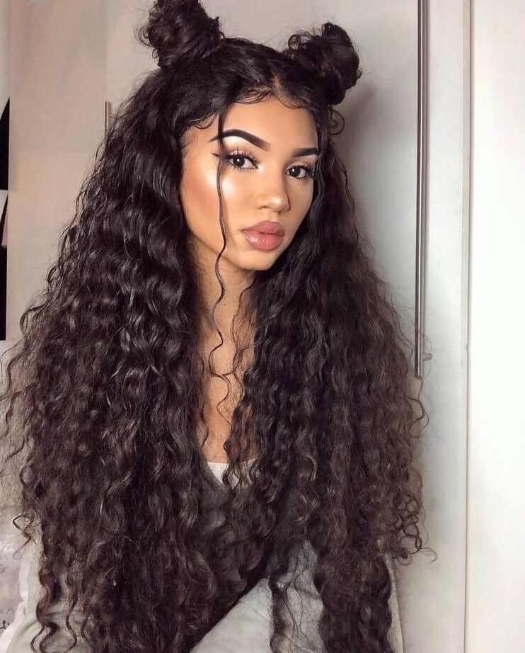 Sexy Deep Curly Human Hair Wig- edw2096 - Click Image to Close