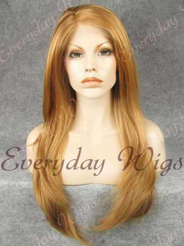 "24"" Mix Color Straight Synthetic Lace Front Wig- edw256"