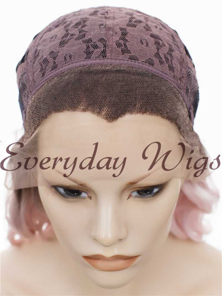 "14"" Ombre Short Bob Synthetic Lace Front Wig- edw274"
