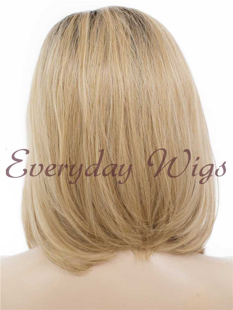 "14"" ombre blonde wavy Synthetic Lace Front Wig- edw284"