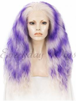 24 inch Purple Mixed Curly Synthetic Wig- edw285